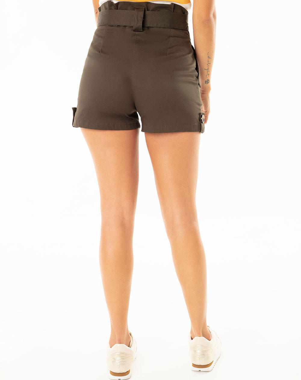 83fce5de74e70 Short para Mujer Tope Verde Militar Gef