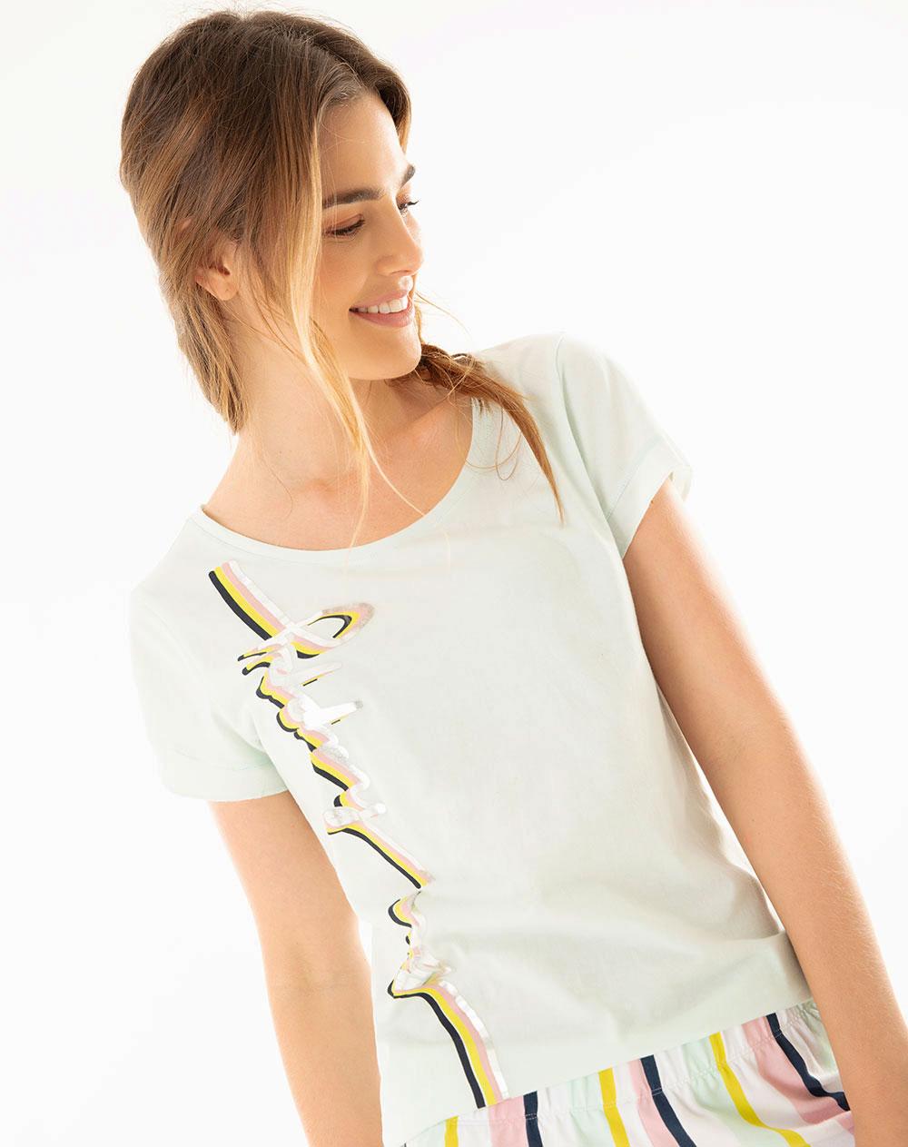b9b6b74c0a3e Agua Camiseta Short T Para Mujer Gef Makita Verde mN8wn0v