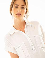 17cb0855859f6 Imagen para Camisa para Mujer Gichi Blanca de Gef