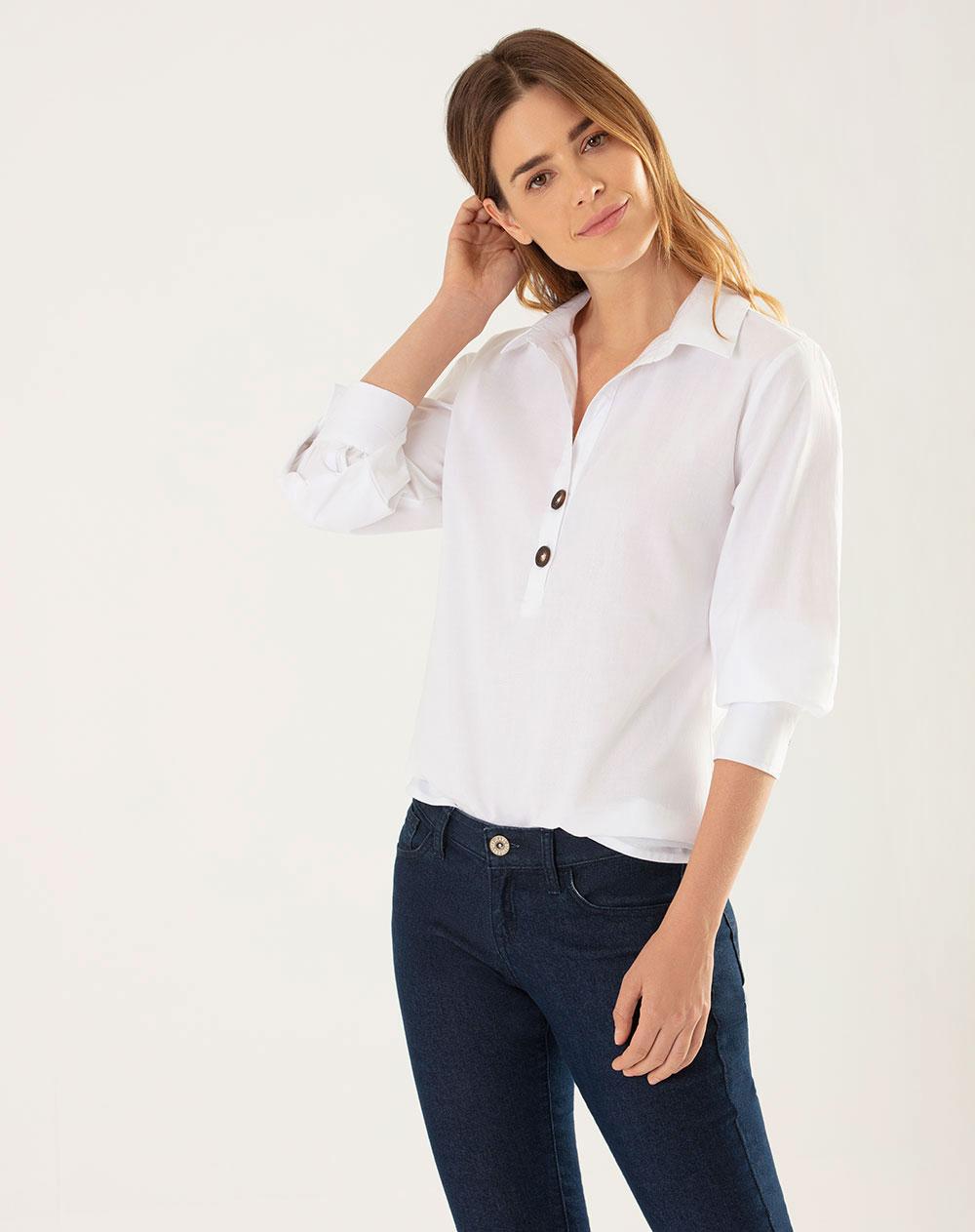 d7e9f2548bb Imagen para Camisa para Mujer Joyu Blanca de Gef