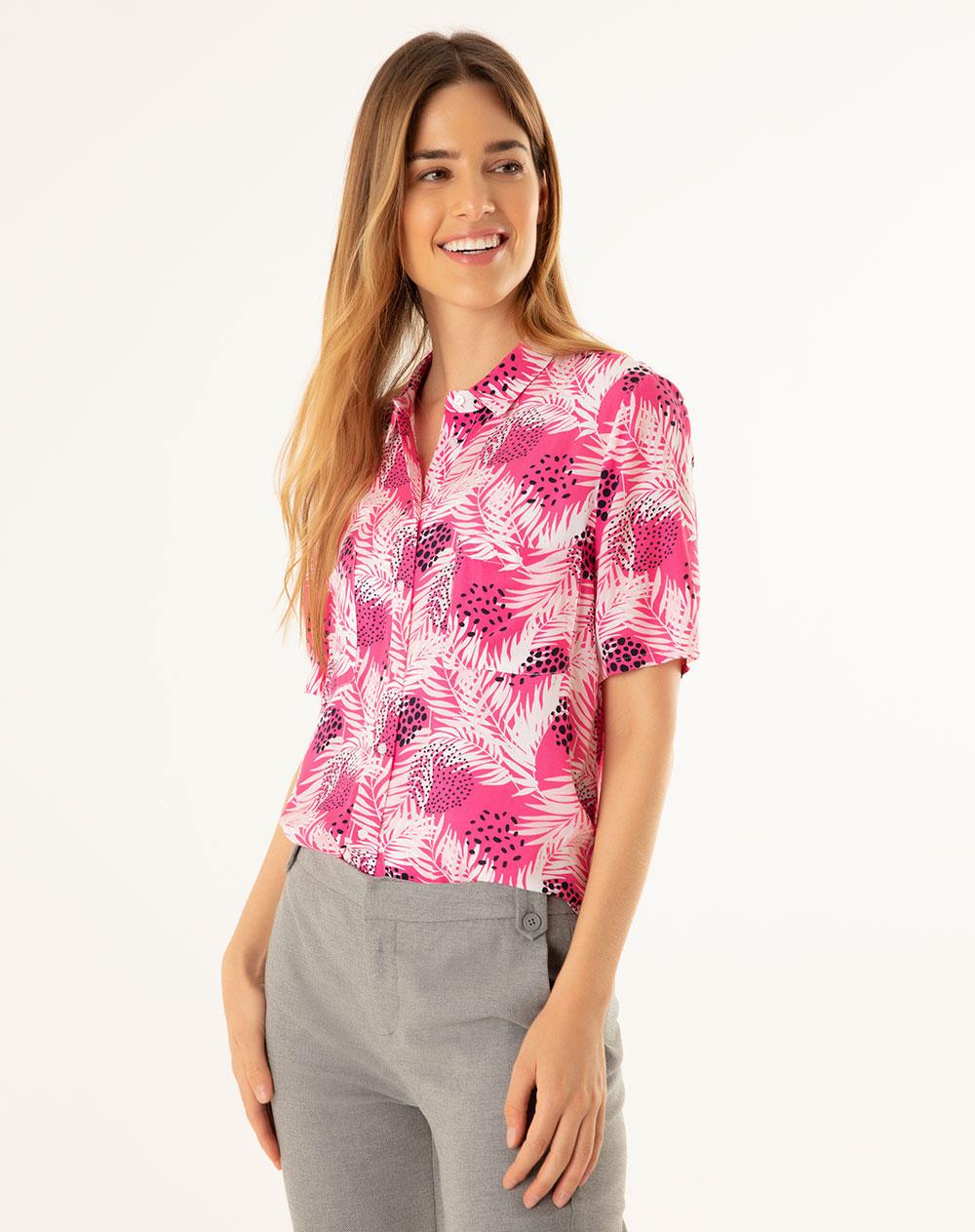 Código promocional buscar original Precio de fábrica 2019 Camisa para Mujer Lelin Fucsia Gef