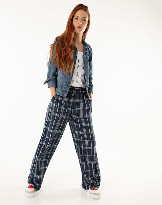 Pantalón para Mujer Lenis Azul Gef