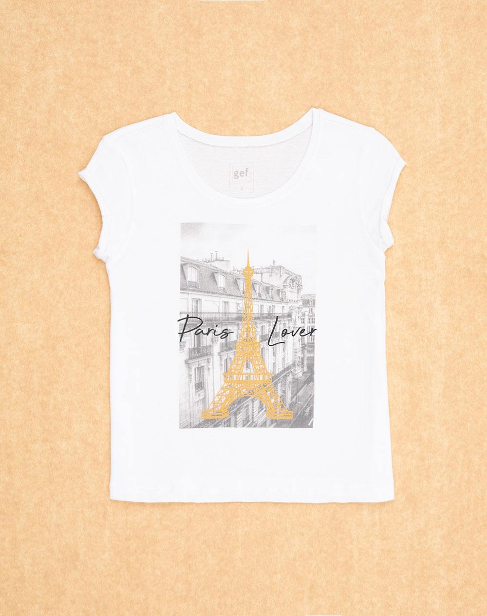 d7de26b46 Imagen para Camiseta para Niña City Fem Kd Blanca de Gef
