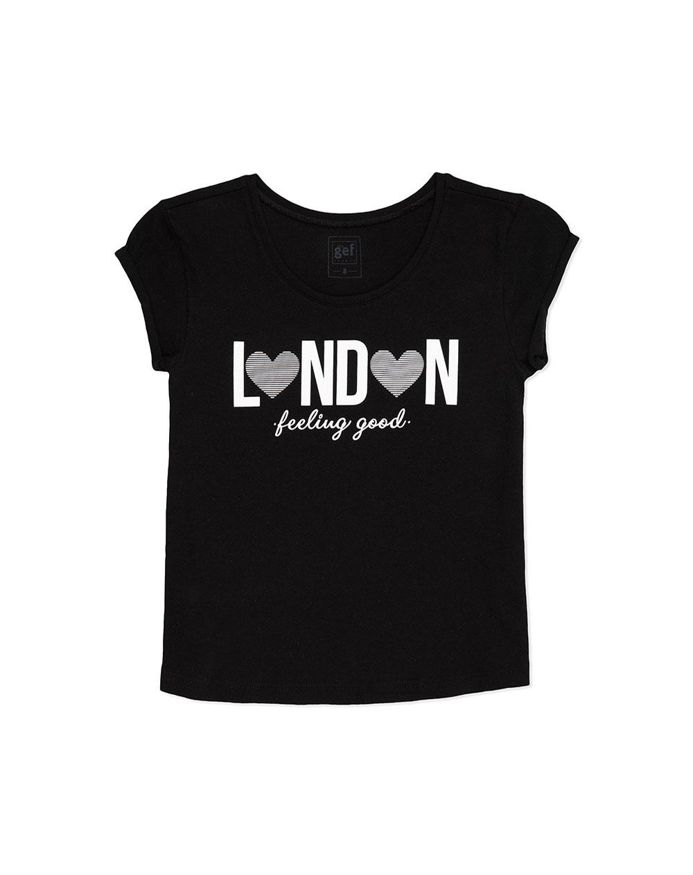 13e010dee Imagen para Camiseta para Niña City Fem Kd Negra de Gef