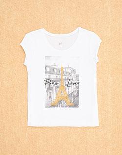 6c5266a59 Imagen para Camiseta para Niña City Fem Kd Blanca de Gef