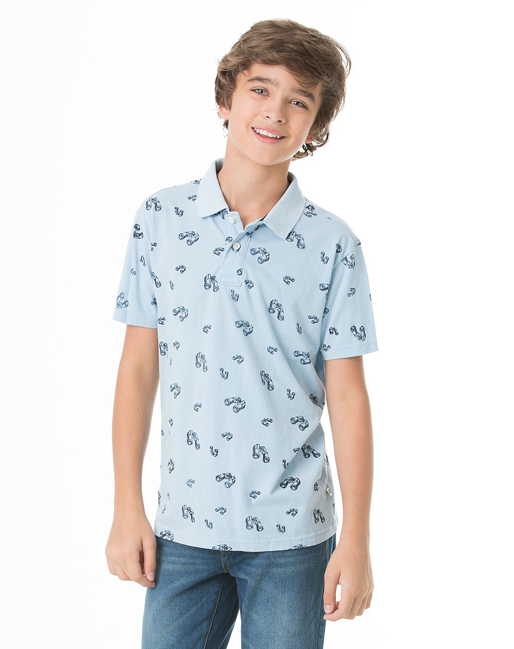 Camisa Polo Juvenil Masculina Fileas