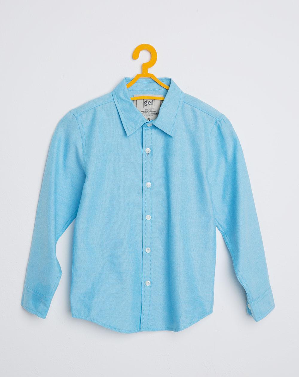 Camisa Para Nino Lesotho Azul Celeste Gef - Color-azul-celeste
