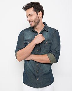 e4cccb97c2 Imagen para Camisa para Hombre Hickson Azul Índigo de Gef
