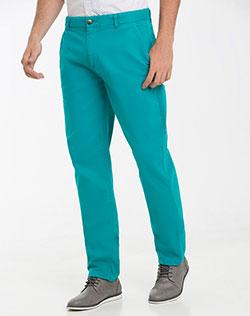pantalon verde de hombre de pantalon turquesa z4OvrzqW