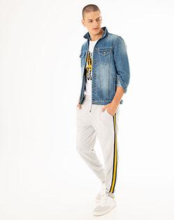 9c66d9854c225 Imagen para Pantalón para Hombre Giju Gris Jaspe de Gef