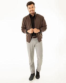 00b0d279b82d4 Imagen para Pantalón para Hombre Owen Gris Jaspe Bicolor de Gef