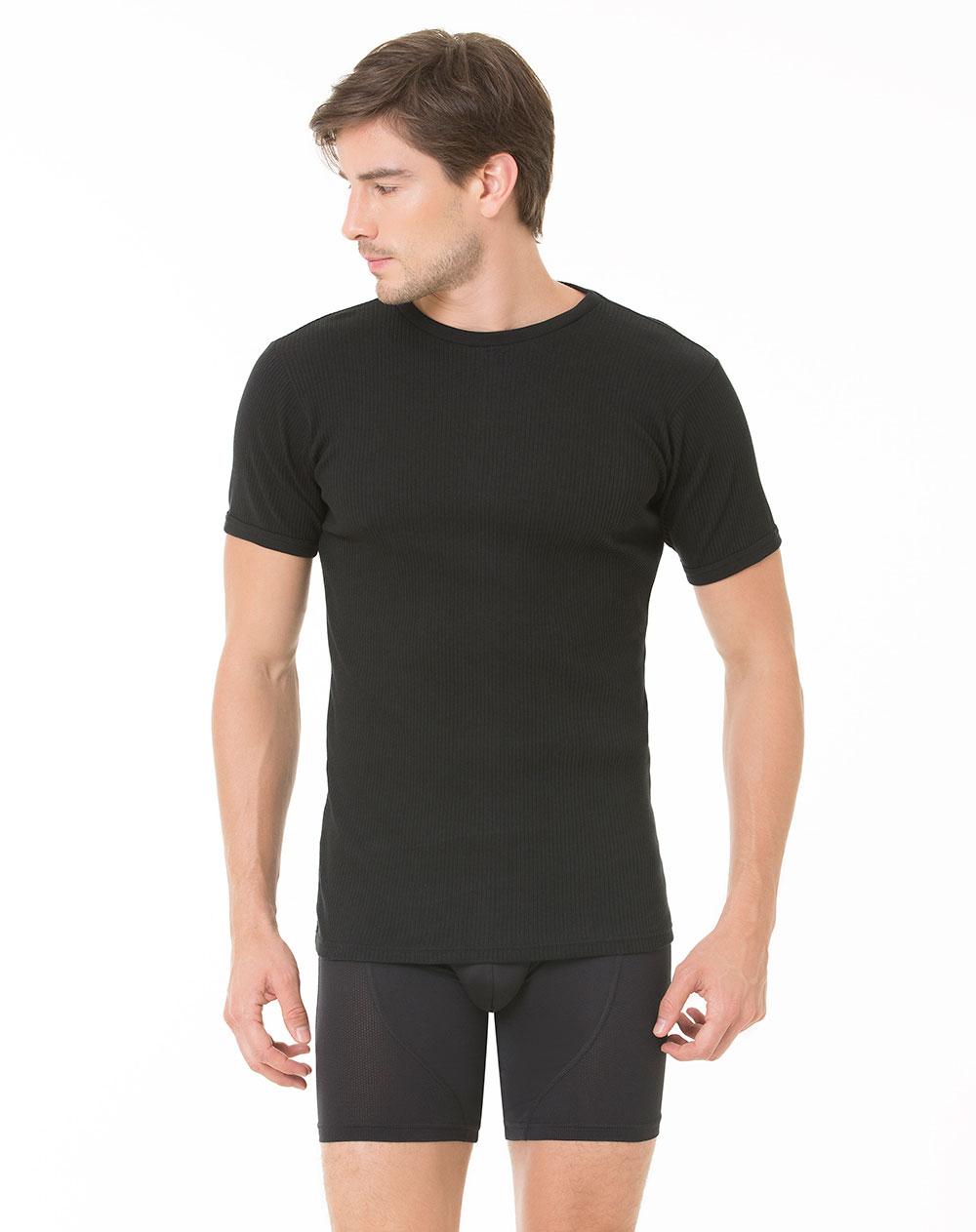 Camiseta para hombre lombardo negra s gef for Camisetas de interior hombre