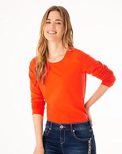 e586574995 Imagen para Camiseta Manga Larga para Mujer Cibeles Roja de Gef
